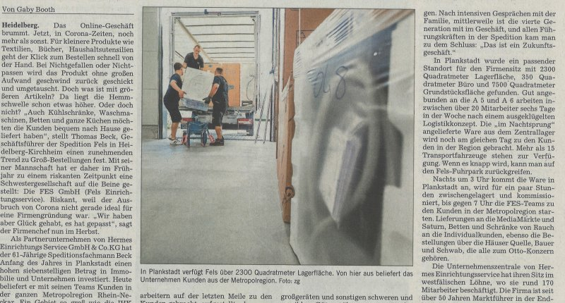 Rhein-Neckar Zeitung_Fels hat eine Schwester